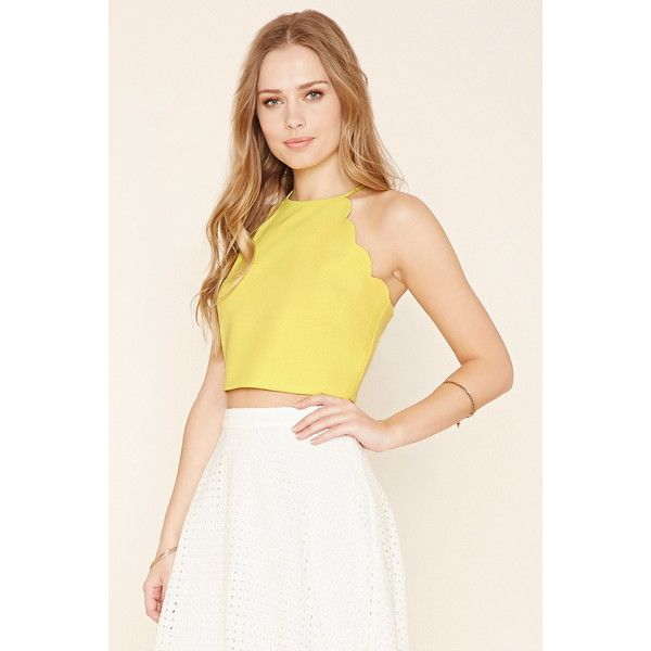 Forever 21 scalloped dress yellow