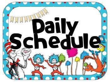 Dr. Seuss Theme Daily Schedule {EDITABLE}   Seuss classroom, Dr seuss  classroom, Dr seuss activities