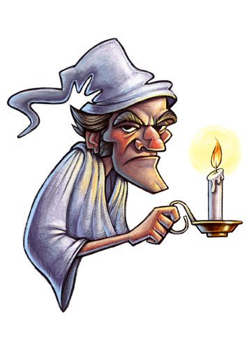 Christmas Carol Scrooge Drawing.A Christmas Carol Ebenezer Scrooge With A Candle A