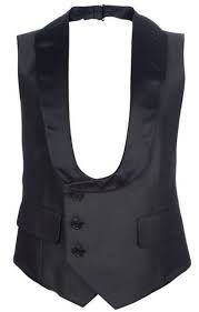 Image result for low cut silk tuxedo waistcoats