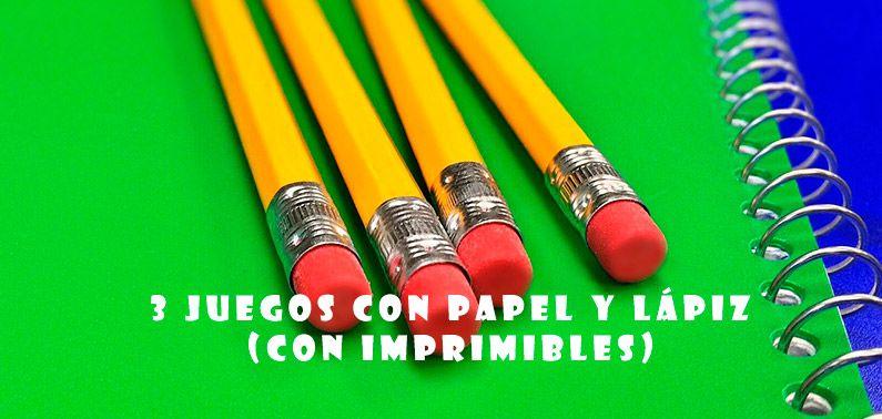 Juegos Con Papel Y Lapiz Mis Posts Pinterest Lapiz Juego Y Papel