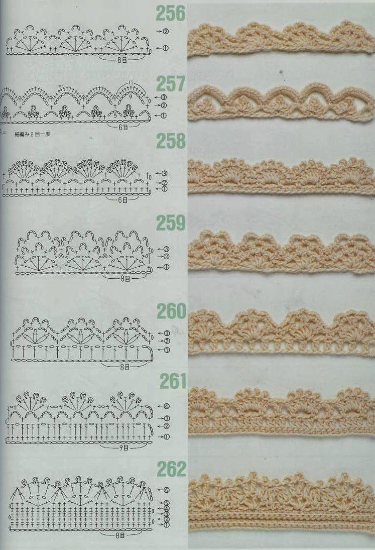 bordure+au+crochet.jpg (747×1095)   Esquemas   Pinterest   Ganchillo ...