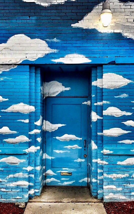 Detroit Michigan & Clouds Door | Detroit Doors and Gates