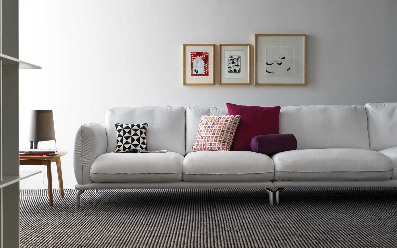The Taylor sofa by Calligaris is an elegant sofa with beautiful stitching  detail. Available in