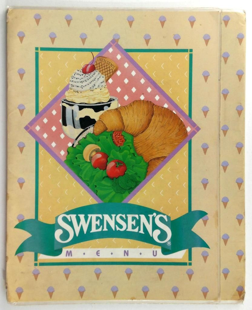 1980 S Swensen S Original Laminated Full Size Restaurant Menu Ice Cream Burgers In 2020 Menu Restaurant Vintage Menu Holiday Decor