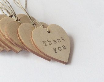 Small Wooden Heart Tags Set Of 200 Thank You Tags Wedding Tags Party Favors