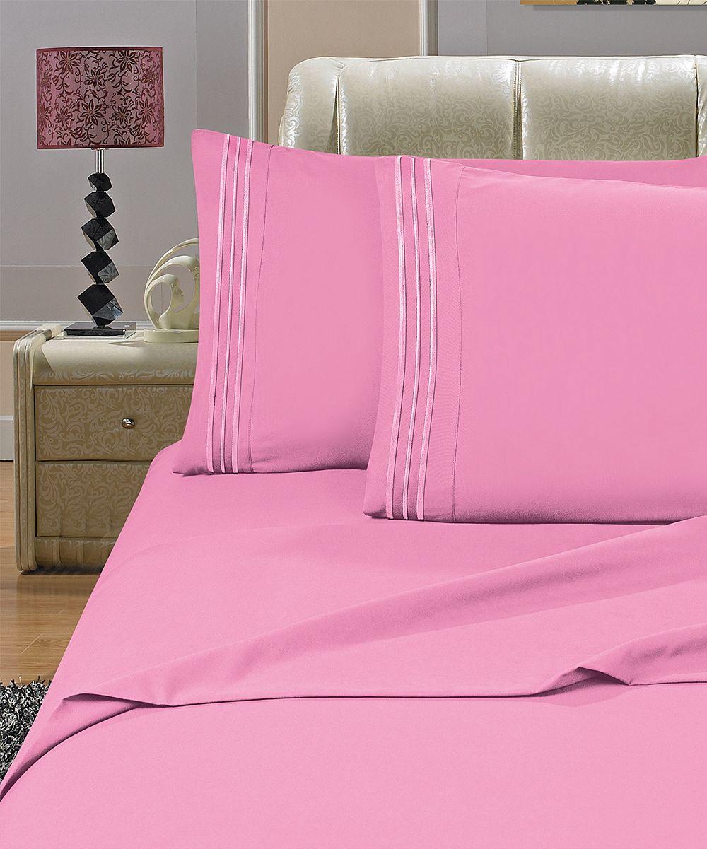 Light Pink Deep-Pocket Sheet Set | Products | Pinterest | Deep ...
