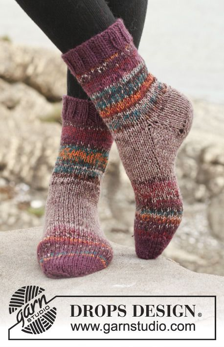 Free Pattern | Chaussons | Pinterest | Puntos, Tejer calcetines y ...