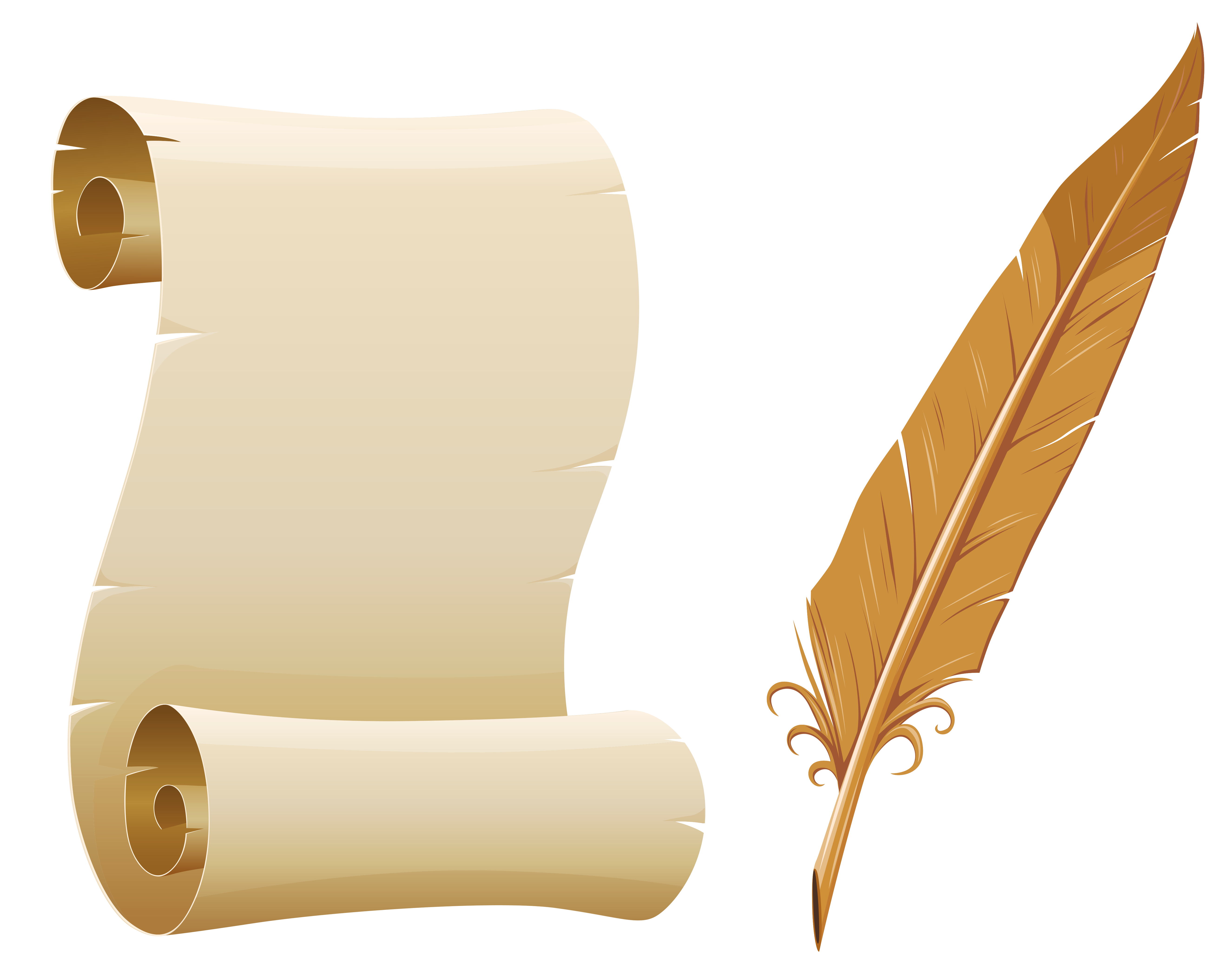 Scrolled Paper And Quill Pen Png Picture Gallery Yopriceville High Quality Images And Transparent Png Free Pergaminho Png Pergaminho Belo Papel De Parede