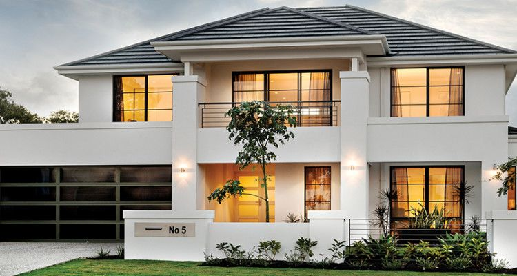 Elegant Double Storey Home Double Story House Storey Homes House Designs Exterior