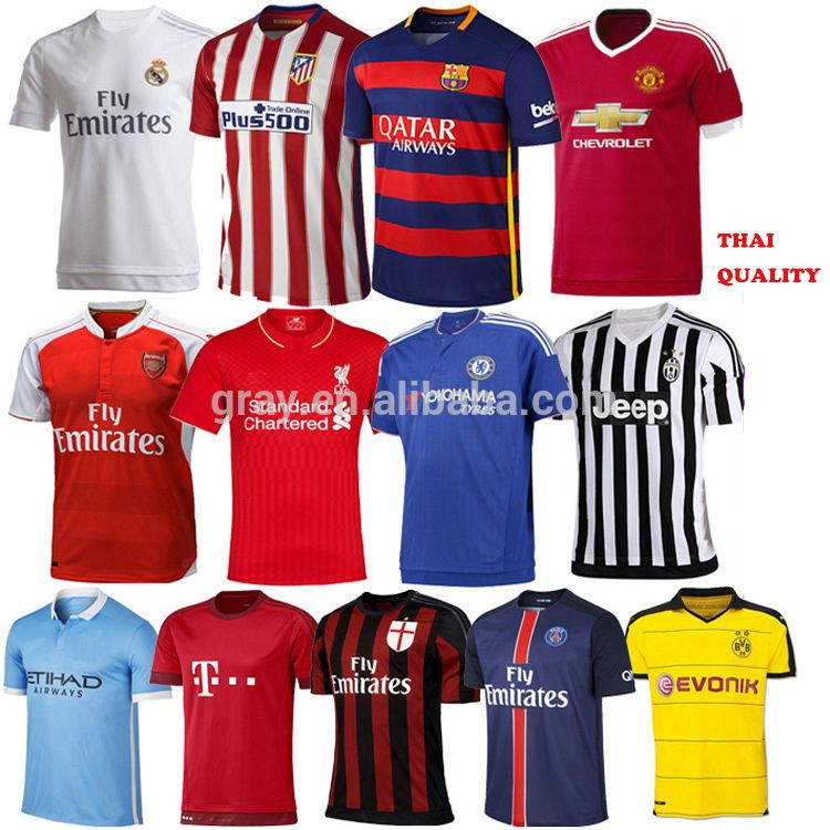 Wholesale Promotional soccer jersey cheap wholesale thai quality jersey  soccer football shirt maker soccer jersey,