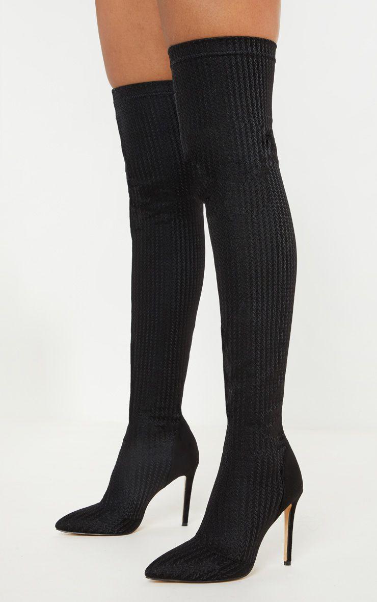 long black sock boots