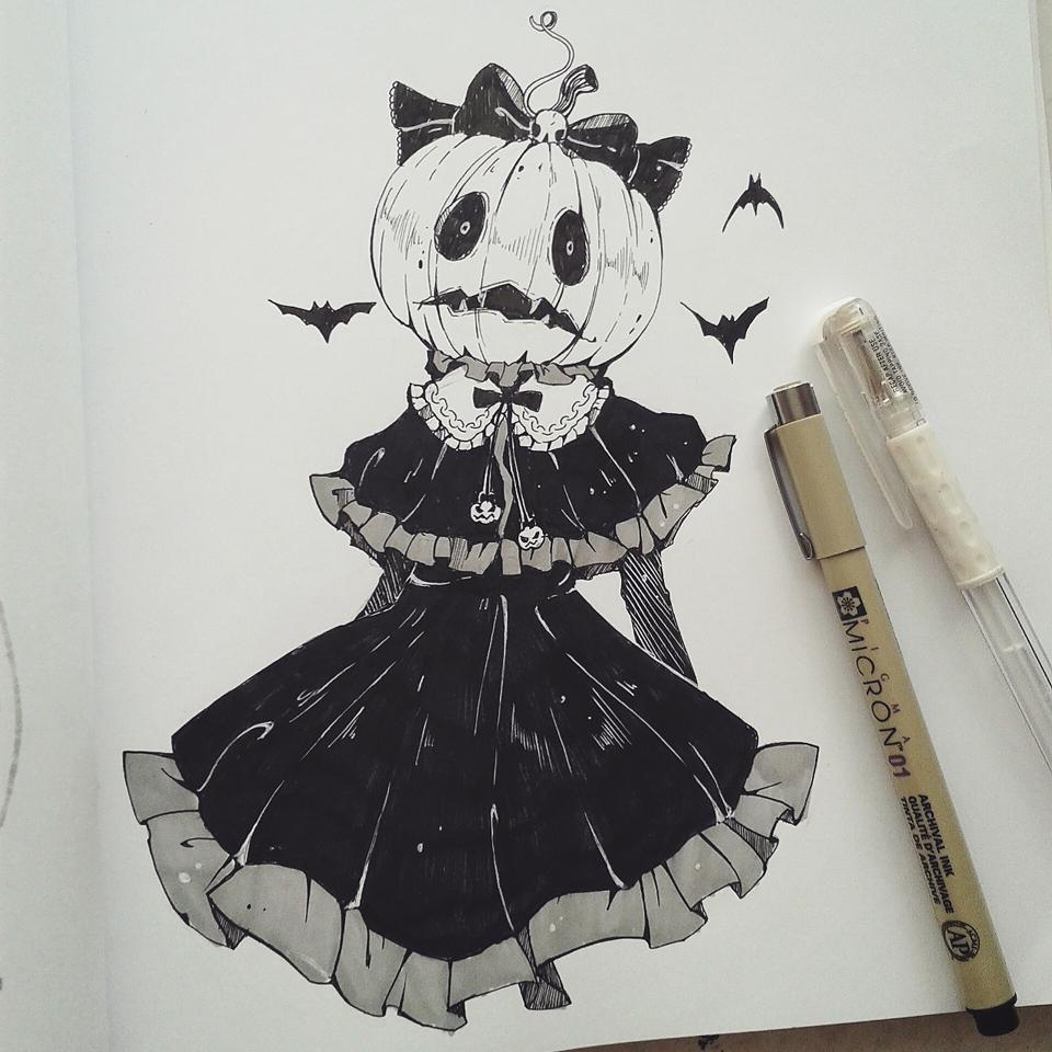 Pumpkin Character art, Drawings, Halloween art
