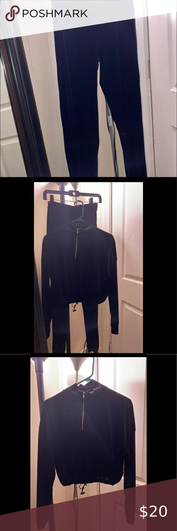 Velvet Tracksuit Black In 2020 Velvet Tracksuit Tracksuit Usa Fashion