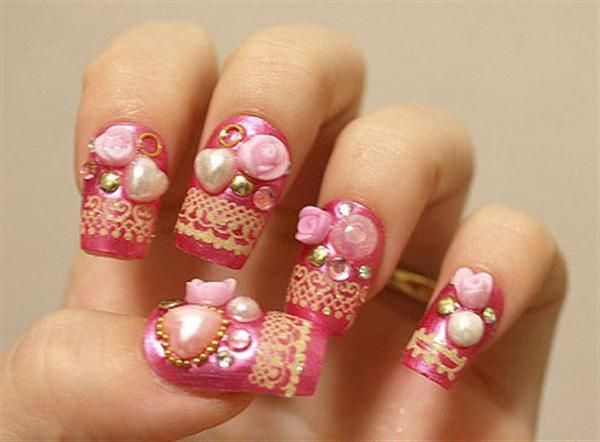 Elegant And Beautiful Japanese 3d Nail Art Designs Supplies And