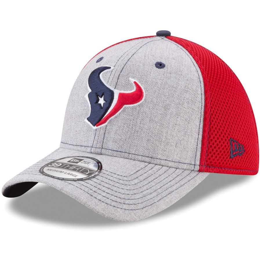 Men s Houston Texans New Era Heathered Gray Red Neo 2 39THIRTY Flex ... b237dd94295e