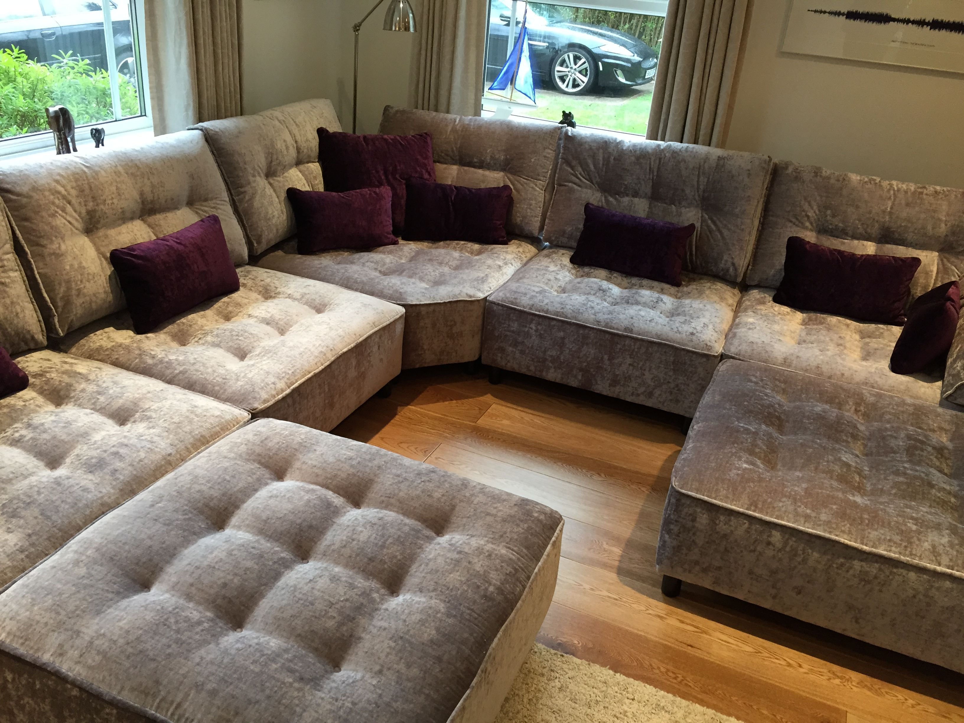 Floor Pillows Big Lots : Big space filled by lots of Tapas modules, all in J Brown Modena crush velvet. The useable ...