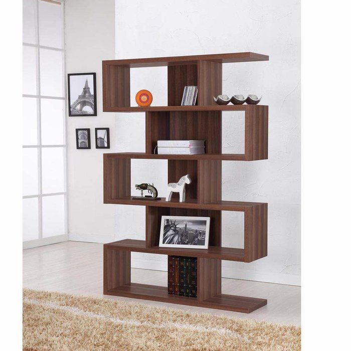 Simple Modern Cool Wonderful Amazing Modern Bookshelf Plan Idea With Brown  Wooden Design Idea And Has