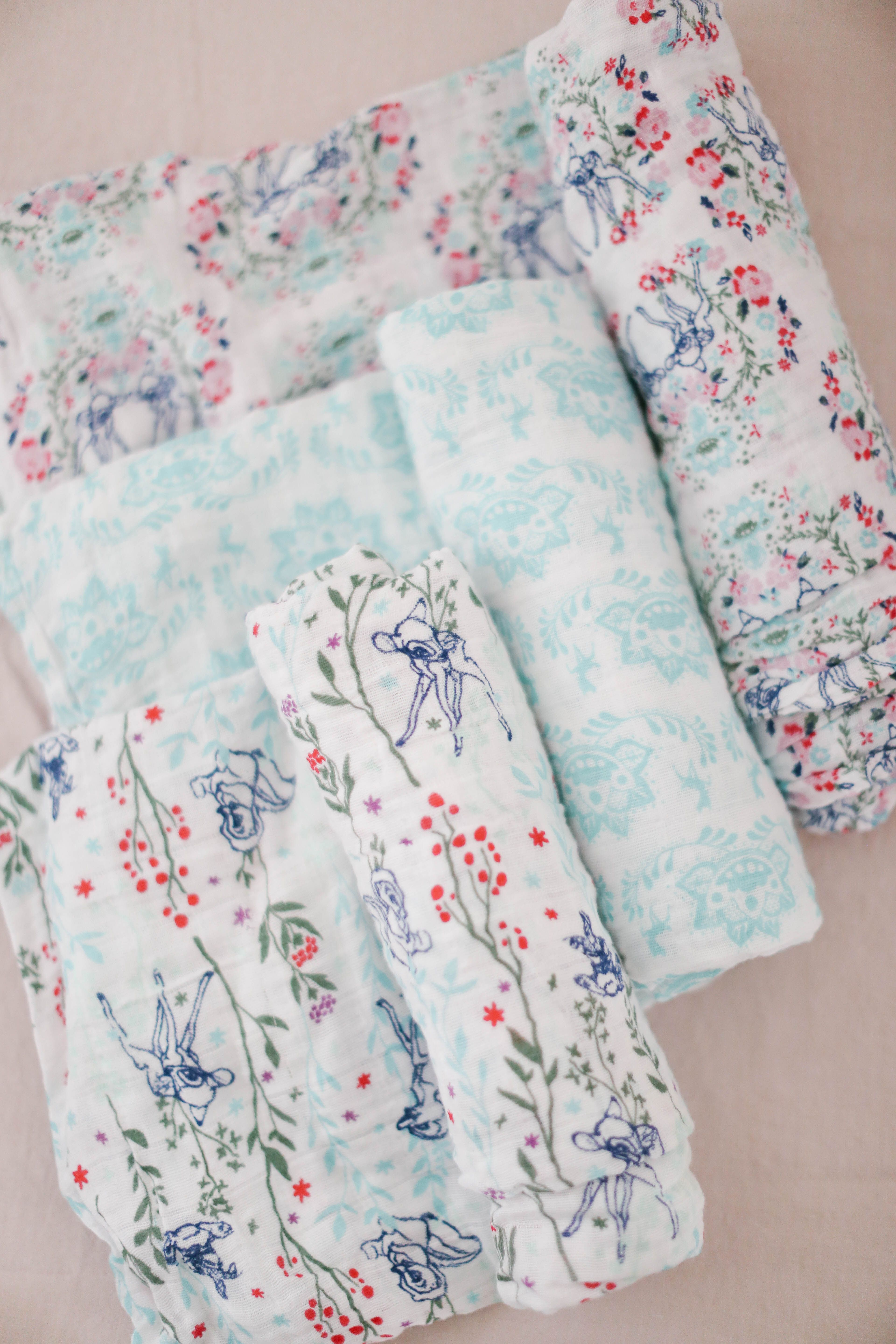 4432f51f394a Bambi Muslin Swaddle Blankets 4-Pack from aden® by aden + anais®. A lovely  shower gift. Whimsical and beautiful character art inspired by a variety of  ...