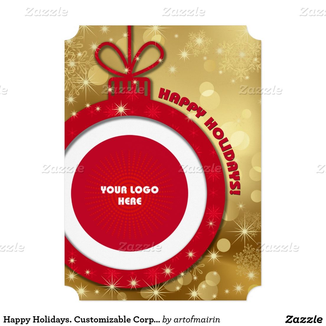 Happy Holidays Customizable Corporate Photo Cards Zazzle Com Holiday Design Card Business Christmas Unique Greeting Cards
