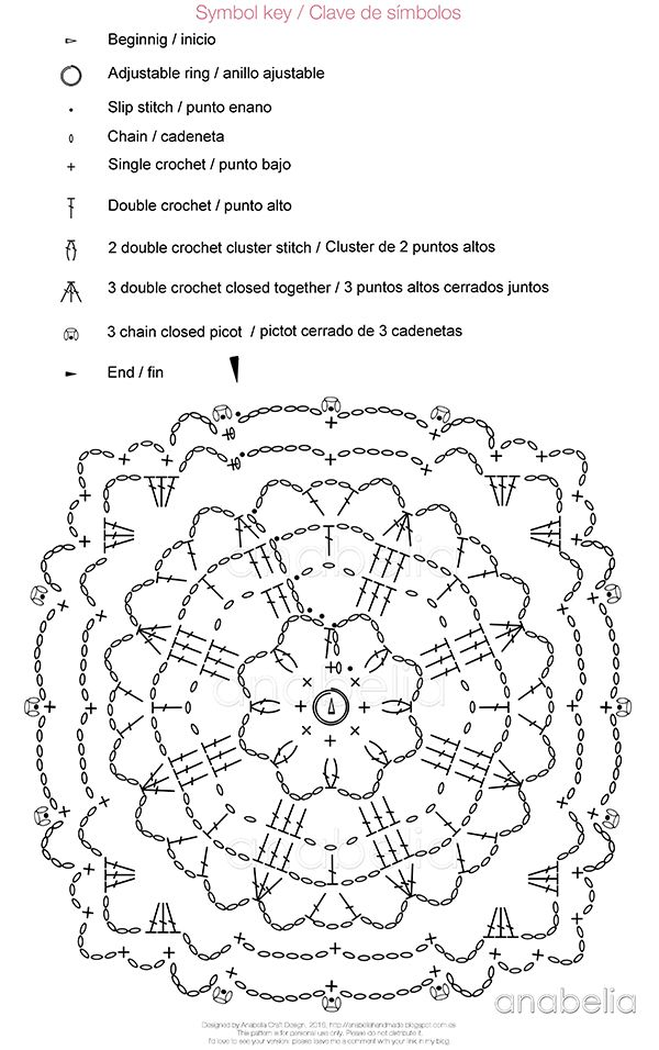 Crochet lace motifs free patterns by Anabelia Craft Design | Crochet ...