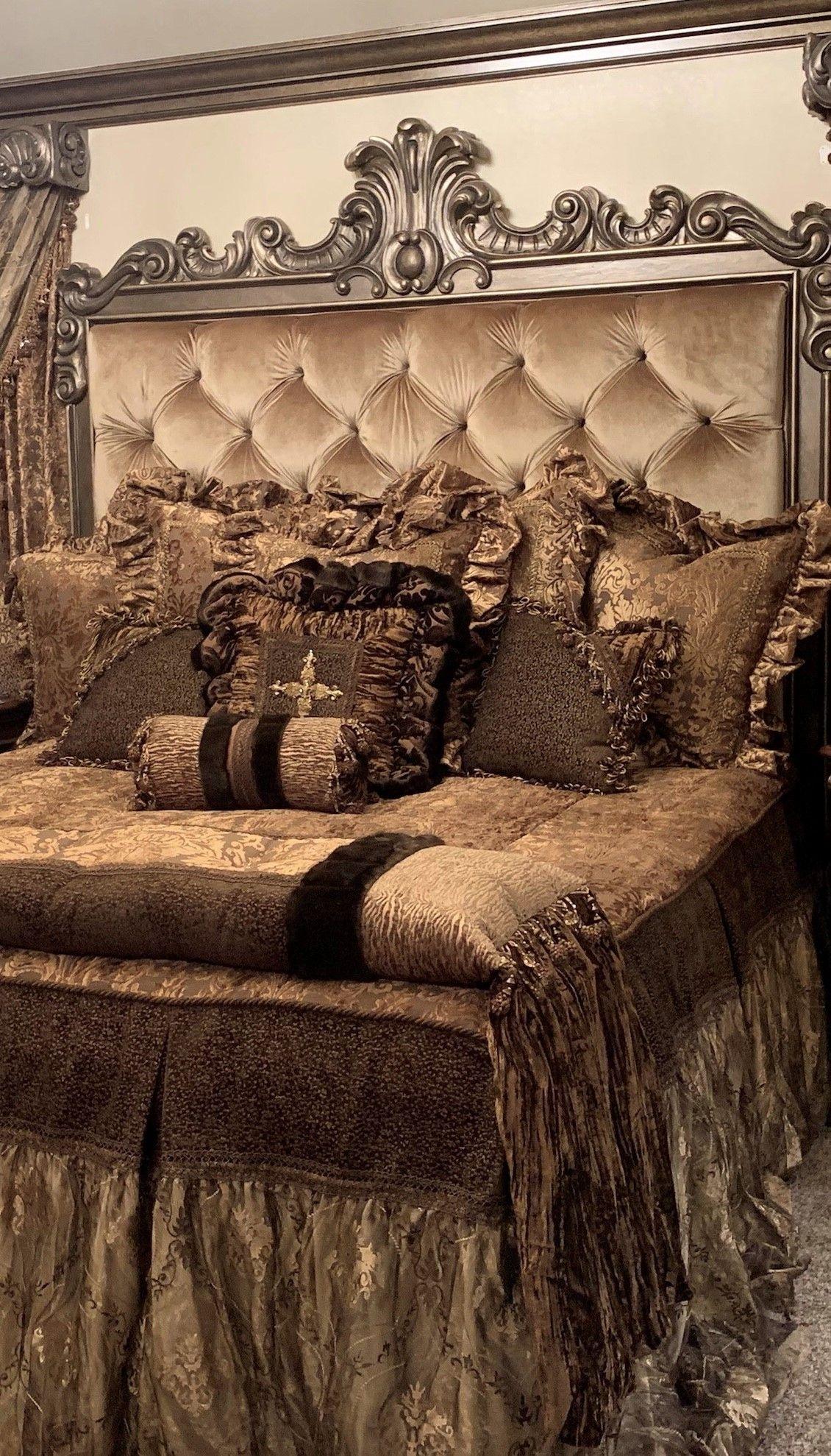 Photo of Elegant Draperies and Luxury Bedding