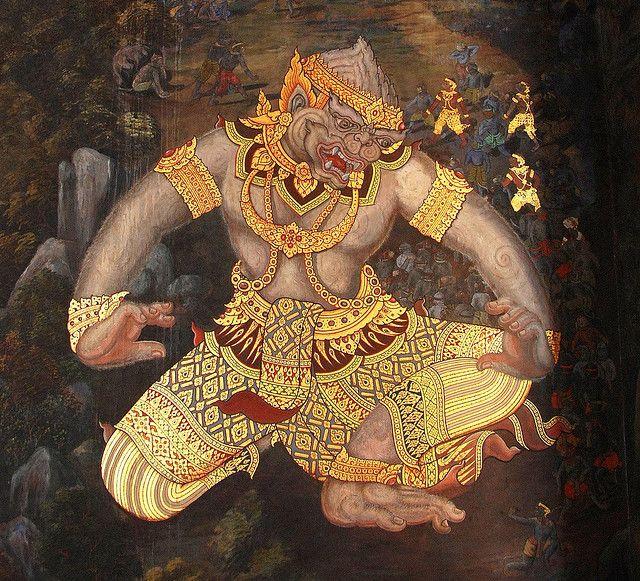 Thai Hanuman Thai Art Hanuman Samurai Art