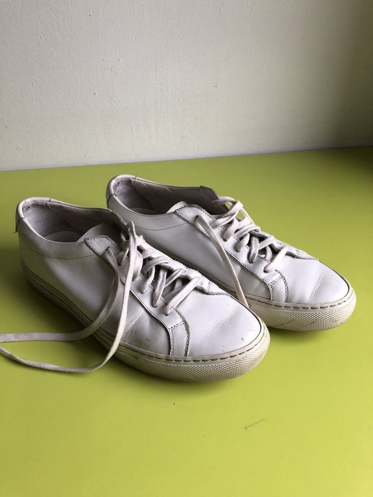 c4a24aa61799 common projects shoes Size 8.5 9 White Leather Worn  fashion  clothing   shoes