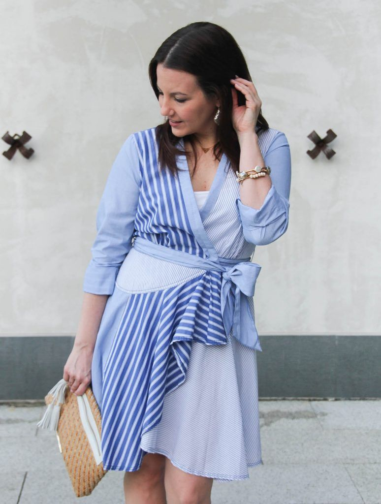 Houston fashion blogger wears an Anthropologie shirtdress for Easter.