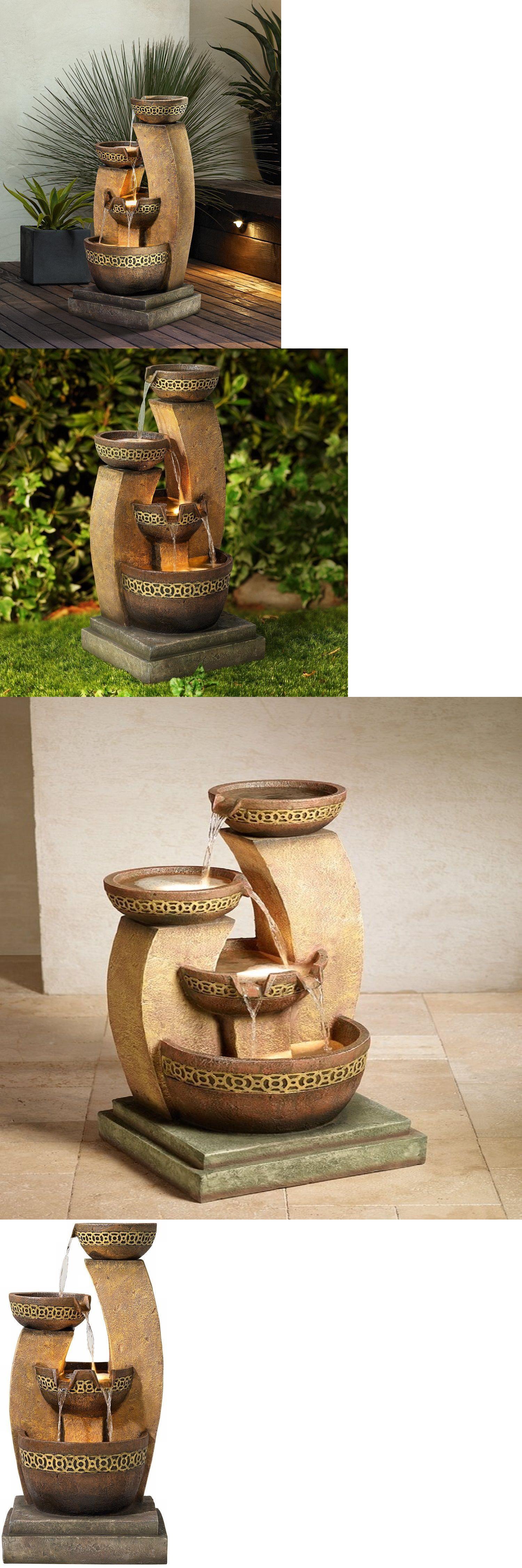 Indoor fountains 20569 water fountain outdoor cascading garden 3 indoor fountains 20569 water fountain outdoor cascading garden 3 bowl waterfall patio garden decor workwithnaturefo