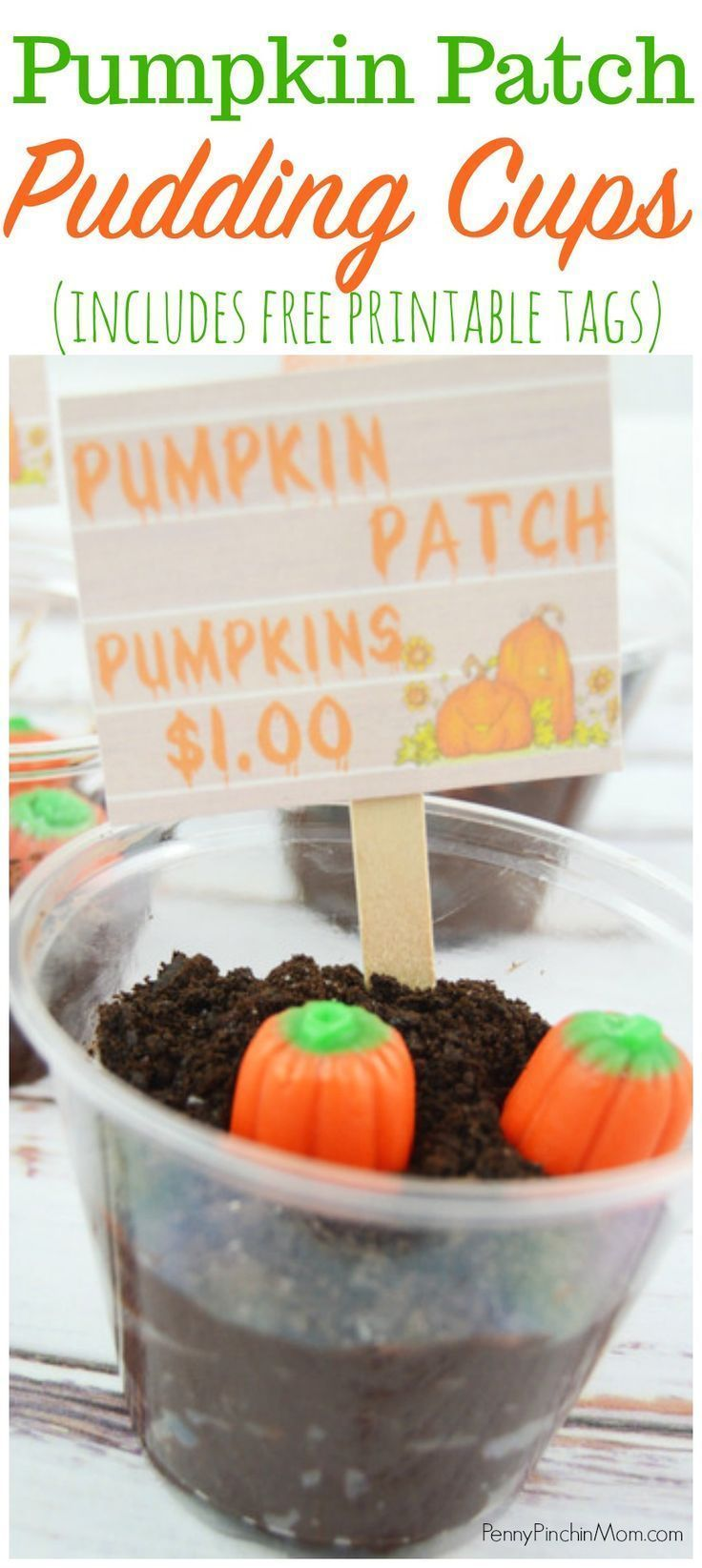 Pumpkin Patch Pudding Cups | An easy and adorable Fall dessert!