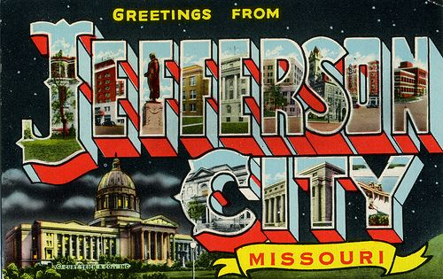 Greetings from Jefferson City, Missouri - Large Letter Postcard by Shook Photos, via Flickr