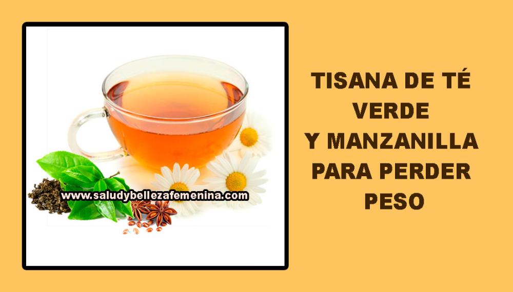 Tisana De Té Verde Y Manzanilla Para Perder Peso Health Glassware Tableware