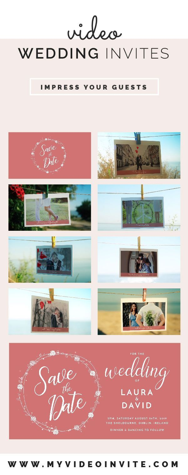 Personalised wedding video invites a memorable way to send those personalised wedding video invites a memorable way to send those save the dates stopboris Image collections