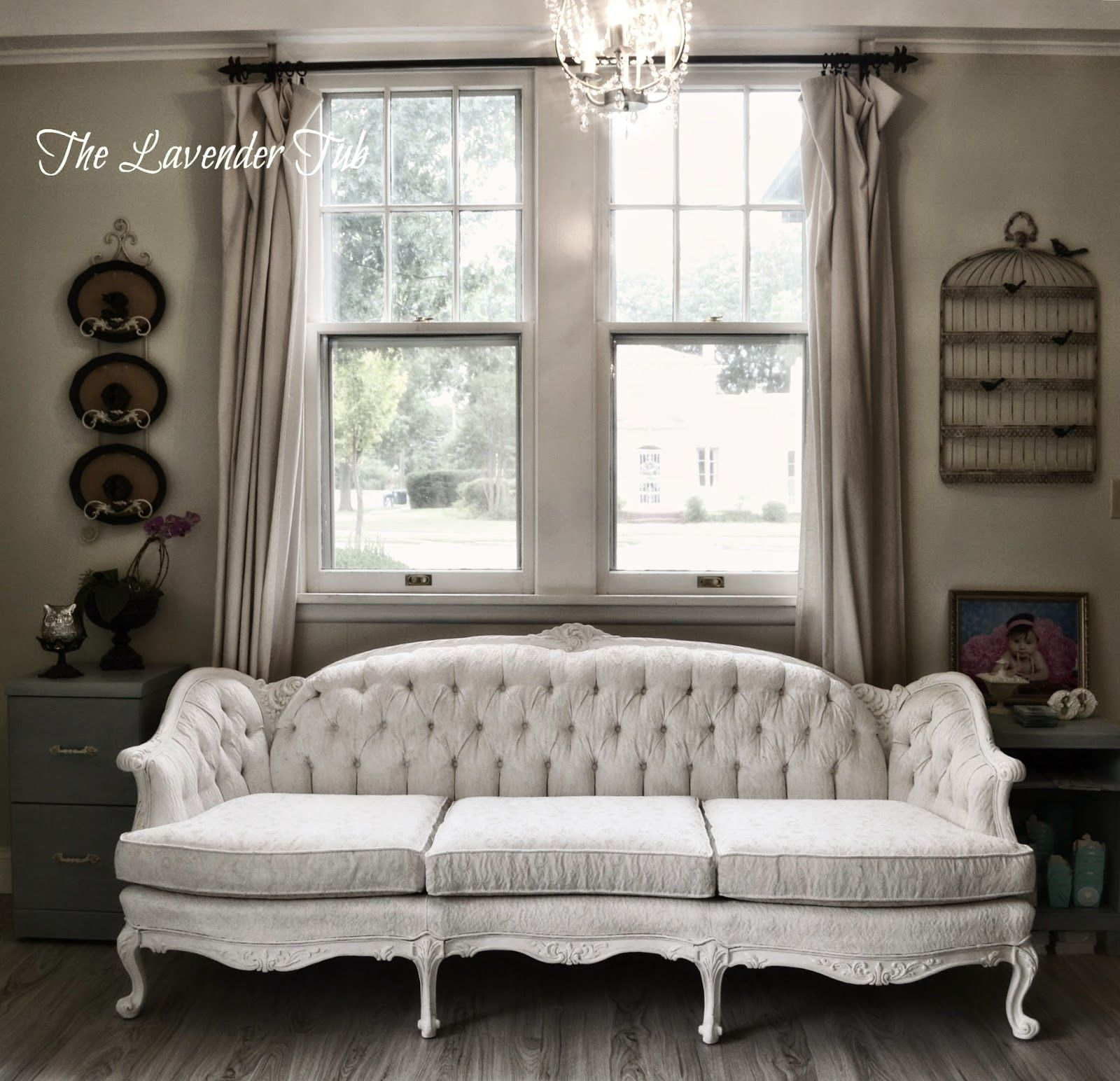 The Lavender Tub Victorian Sofa Updated With Annie Sloan