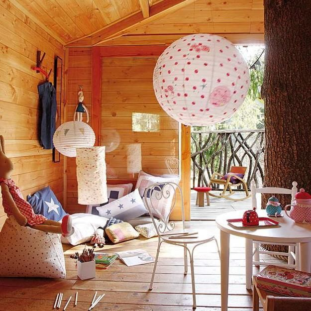 fabulous kids treehouse design beautifully integrated into backyard landscaping