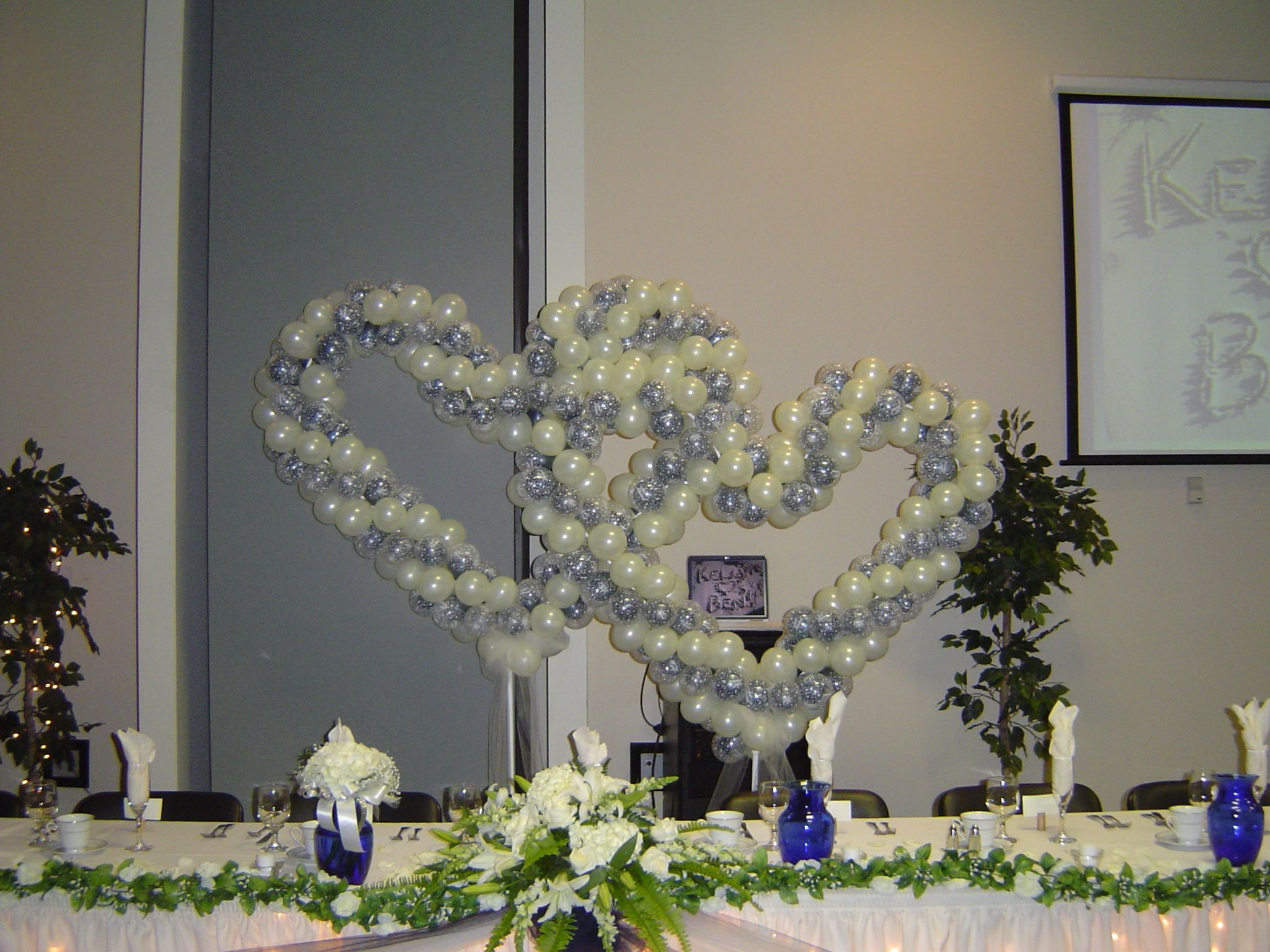 Party Wedding Reception Wedding Reception Head Table Decoration