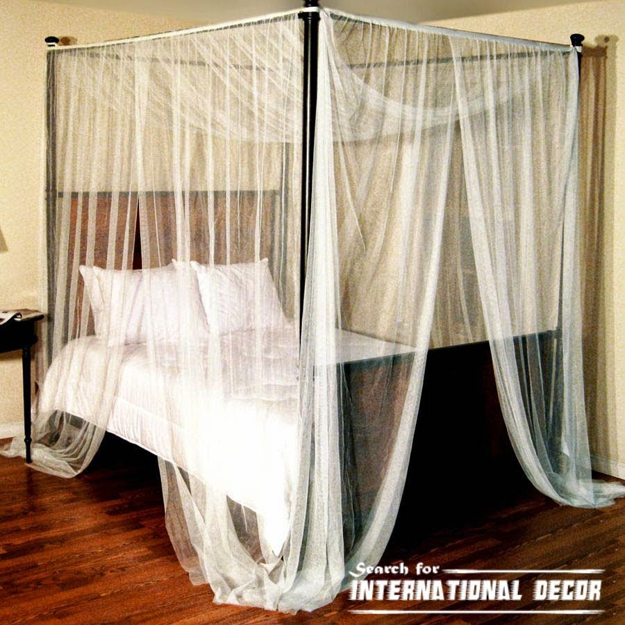 How To Hang Curtains On A Canopy Bed Ehow - Four poster bed and canopy for romantic bedroom