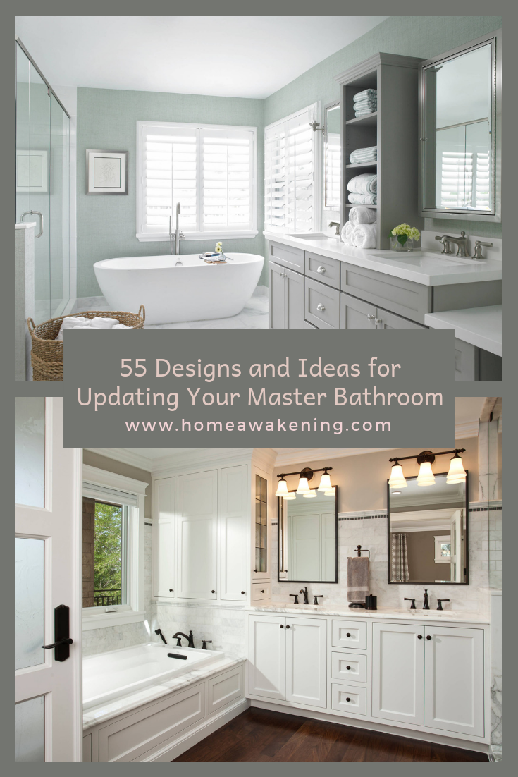 55 Ideas for Updating Your Master Bathroom   Master ...
