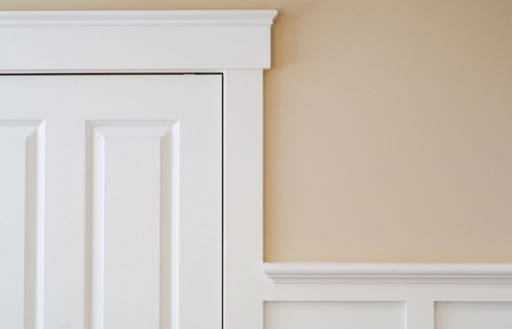Beautifully Simple Craftsman Style Door Casing And Pediment