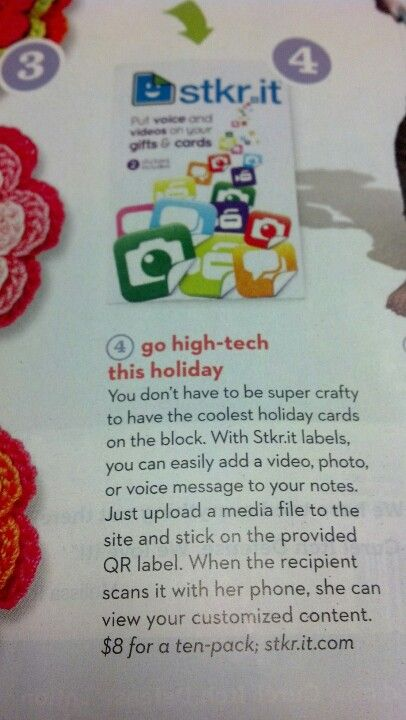 Stkr.it QR code stickers that you can put on your xmas cards that will link to a video or ...