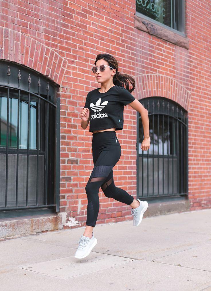 Workout Wear // Adidas sneakers + Zella