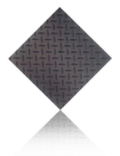 2 X2 Single Black Diamond Plate Aluminum Wall Tile Car Guy Garage Diamond Plate Plates On Wall Tile Floor