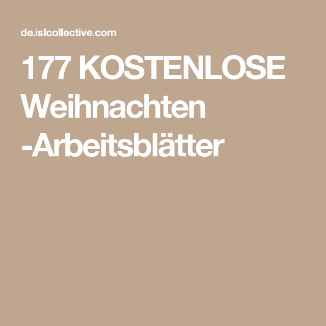 177 KOSTENLOSE Weihnachten -Arbeitsblätter | Kind | Pinterest ...