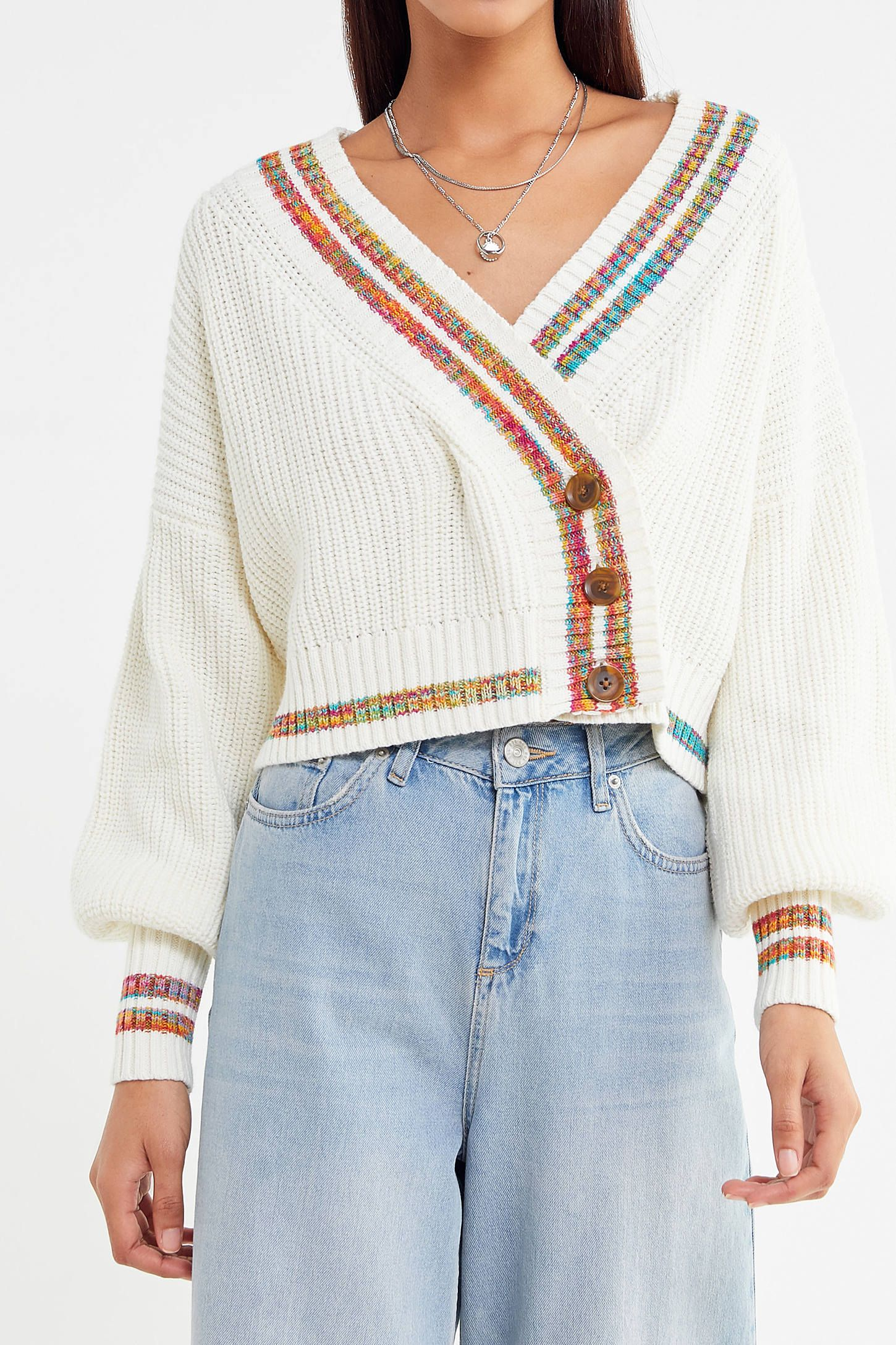 b315fd12b908 UO Laura Button-Down Cropped Cardigan in 2019 | sweaters | Cropped ...
