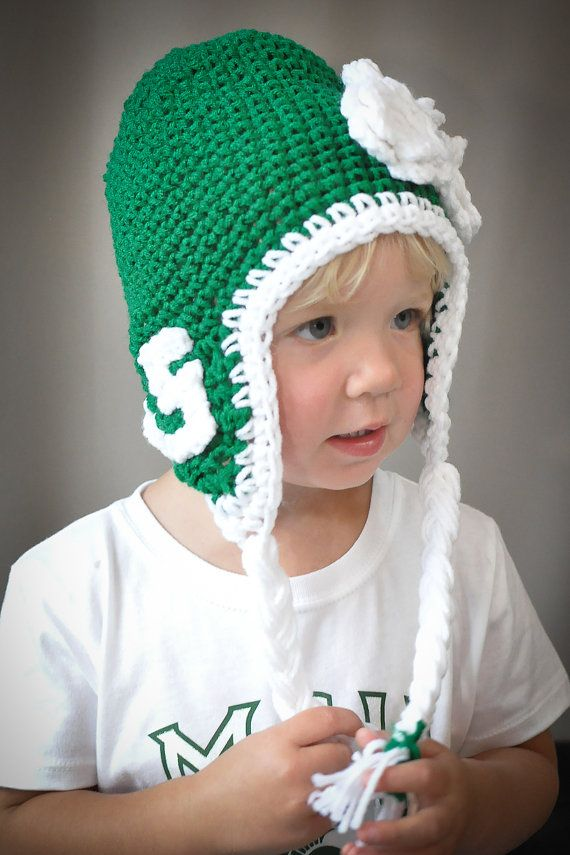 Michigan State University hat for child or adult. SO CUTE!  )  1030f7ac415c