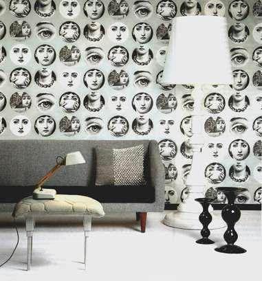 Eerie Facial Wallpaper Wallpaper Piero Fornasetti And Wall Papers - Piero fornasetti wallpaper designs