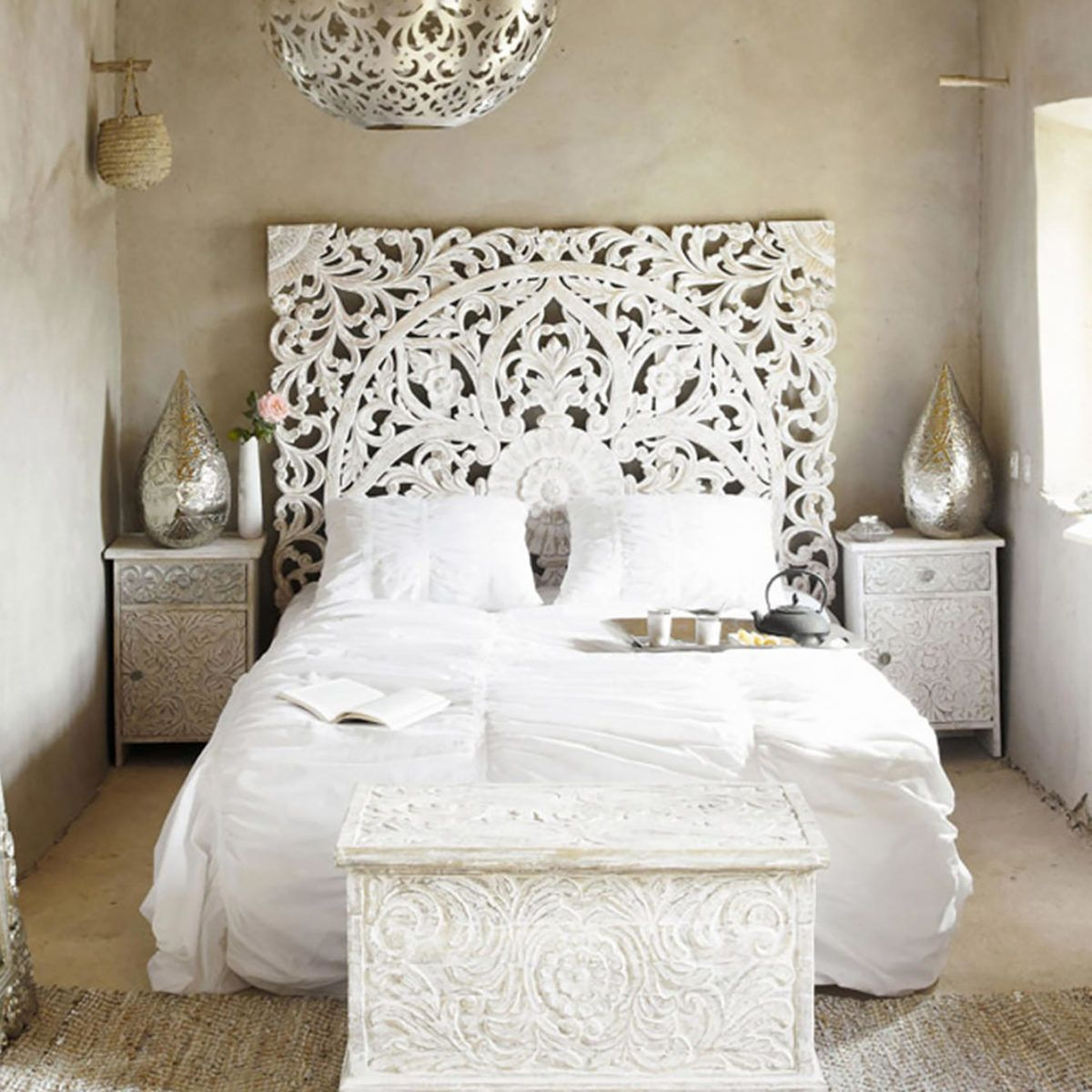 King Size Balinese Bed Headboard Wood Carving Headboards For Beds Bed Headboard Wood White Wooden Headboard