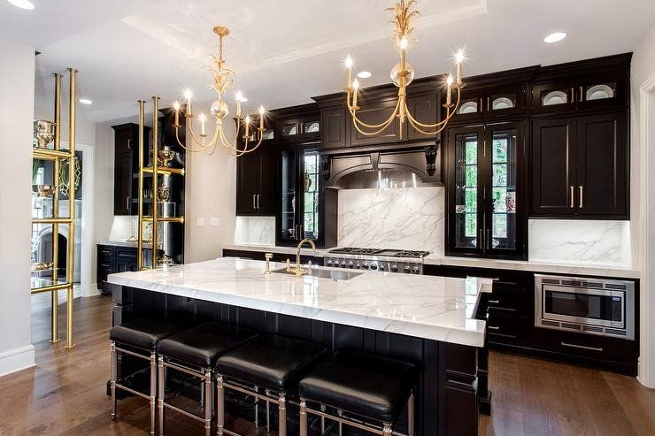 24 Best Of Black And Gold Kitchen Decor In 2020 Kitchen Design Trends Black Kitchen Cabinets Black Kitchens