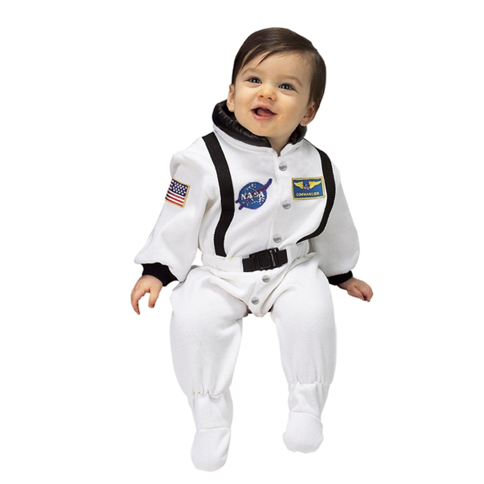 NASA Jr Astronaut Suit White Infant Costume